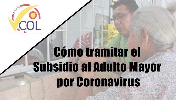 Cómo tramitar el Subsidio al Adulto Mayor por Coronavirus